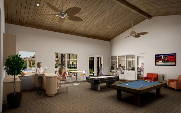 Eagle Landing Phase 1 Rendering of game room