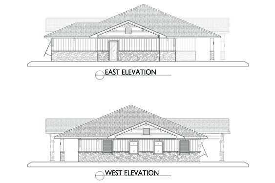 Eagle Landing Phase 2 Clubhouse Elevations East/West