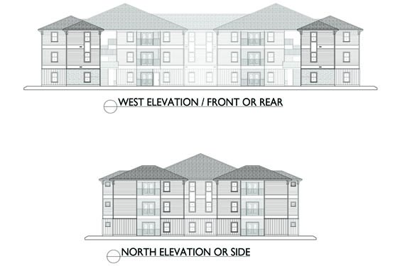 Eagle Landing Phase 2 West/North Elevations