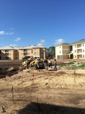 Eagle Landing Phase 2 Construction Site Courtyard 1