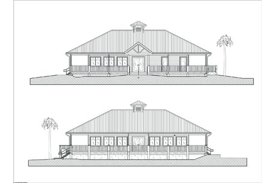 Environmental Learning Center Elevations of Front/Back