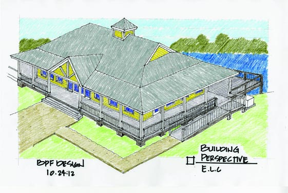 Environmental Learning Center Building Drawing