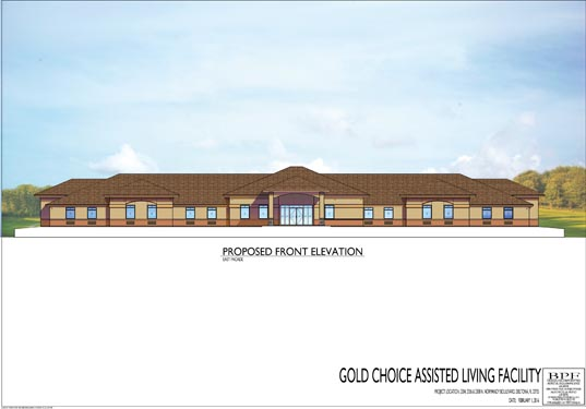 Gold Choice ALF Deltona Proposed Front Elevations