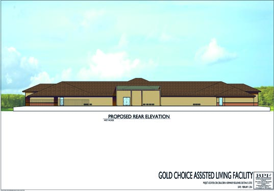 Gold Choice ALF Deltona Proposed Rear Elevations