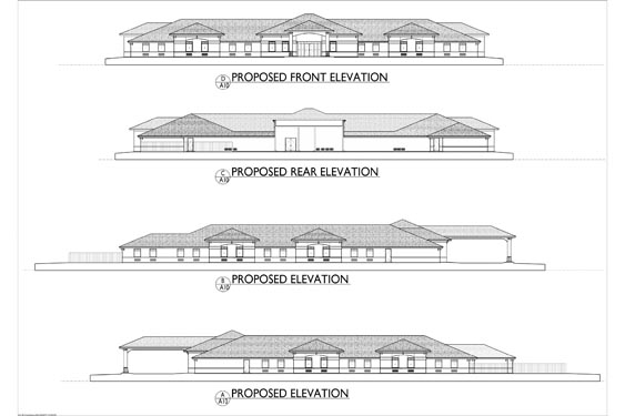Gold Choice ALF Deltona Elevation Blue Prints