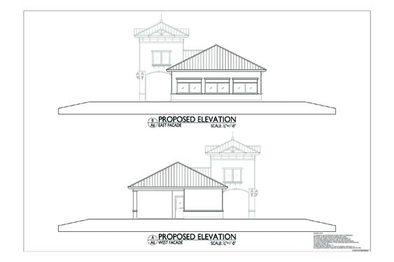 Grand Landing Clubhouse Elevations of Building Sides