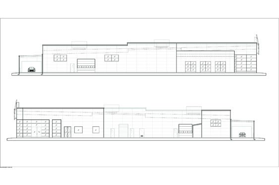 Infiniti Dealership Elevations of Sides