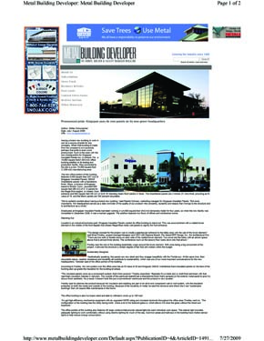Kingspan DeLand Newspaper Article