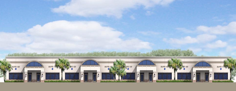Mason Commerce project rendering of building exterior 3