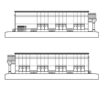 Mason Commerce project elevations of Sides