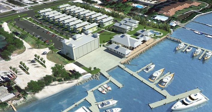 NSB Marina Rendering of oceanfront and site location