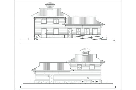 NSB Marina Store Elevations Front/Rear