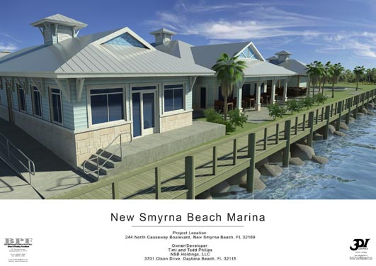 NSB Marina Rendering of dockside bungalows