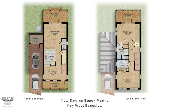 NSB Marina Key West Bungalow Floor Plan 2