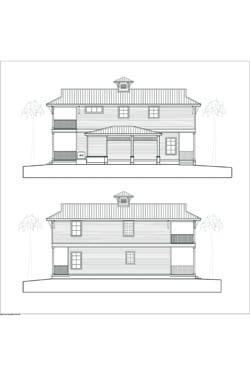 Proposed elevations of Key Largo Bungalow