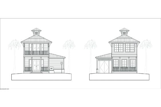 Proposed Elevations of Key West Bungalow