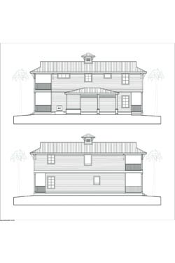 NSB Marina Key West Bungalow Elevations rear/front