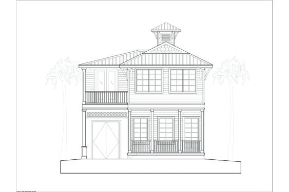 proposed elevation of the SDSK Bungalow in NSB Marina