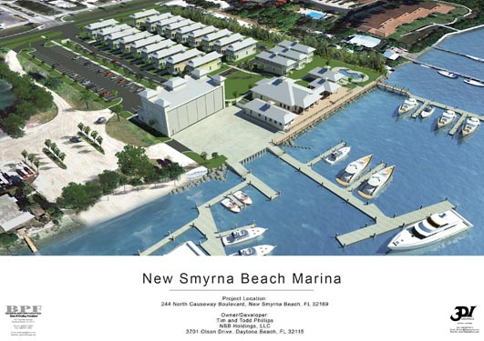 NSB Marina Rendering of ocean front and site location 2