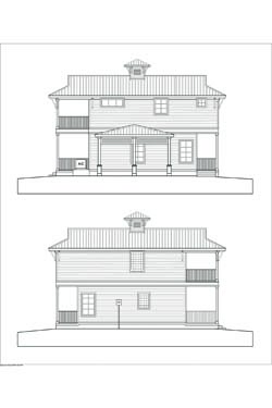 Proposed elevations of the Sunset Key Bungalow