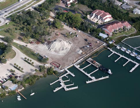 NSB Marina Aerial View of Construction Site