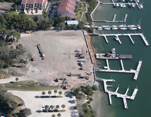 NSB Marina Aerial View of Construction
