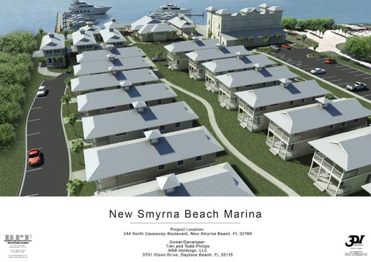 NSB Marina Rendering of bungalows along pathway