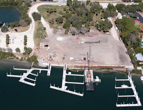 NSB Marina Construction aerial Photo
