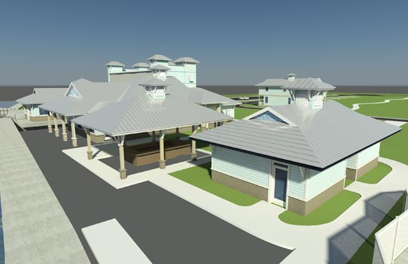 NSB Marina Rendering of bungalows View 2