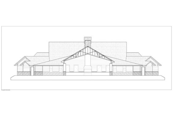 Phillips Ranch Lodge Rear Elevations