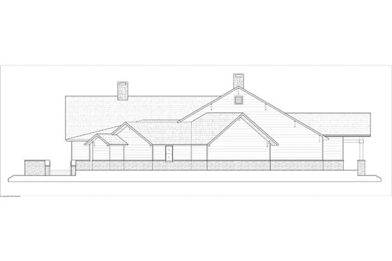 Phillips Ranch Lodge Side Elevations 2