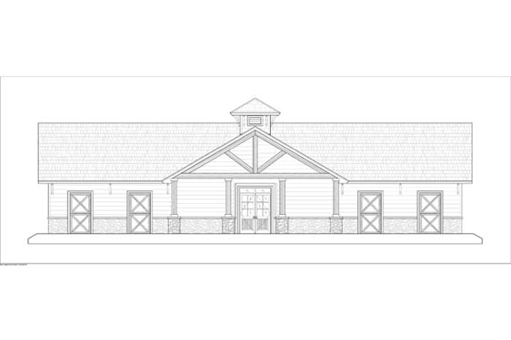 Phillips Ranch Stable Elevations Front