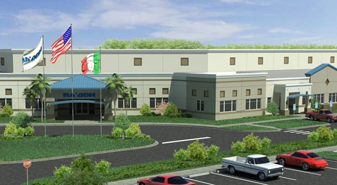 Raydon Headquarters Project Rendering of building front