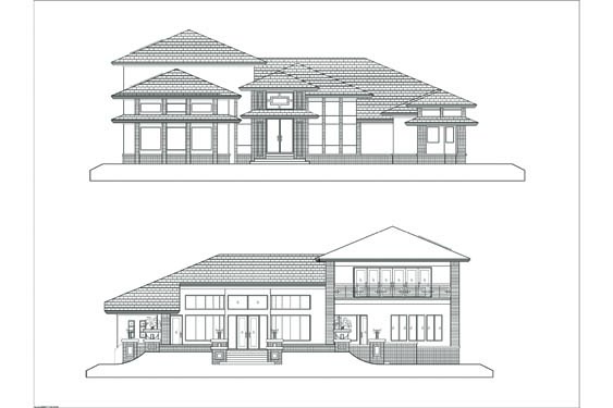 Russell Private Residence Elevations Front/Rear
