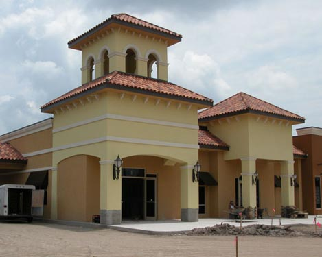 Southwinds Shoppes Construction Site of Front of Shops 5