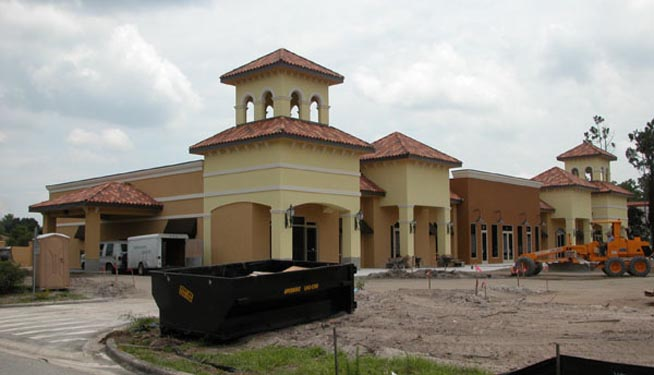 Southwinds Shoppes Construction Site of Front of Shops 3