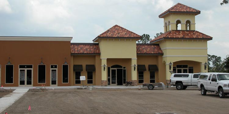 Southwinds Shoppes Construction Site of Front of Shops
