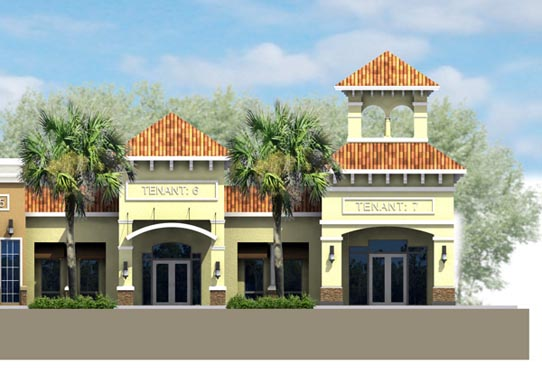 Southwinds Shoppes Rendering of Enterance