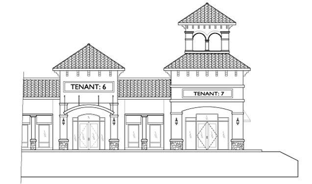 Southwinds Shoppes Elevations