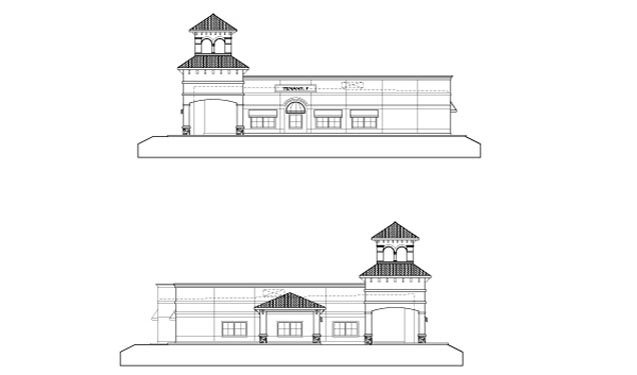 Southwinds Shoppes Elevations of Building