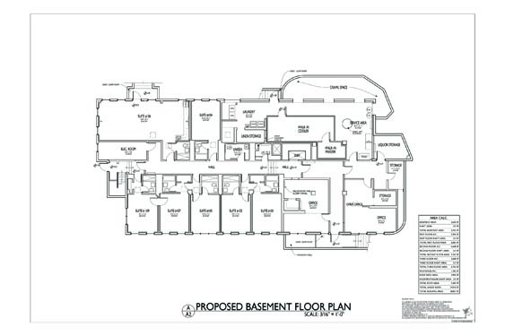 Streamline Hotel Basement Floor Plan 1
