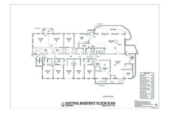 Streamline Hotel Basement Floor Plan