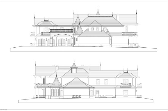 Yeoman Residence Side Building Elevations
