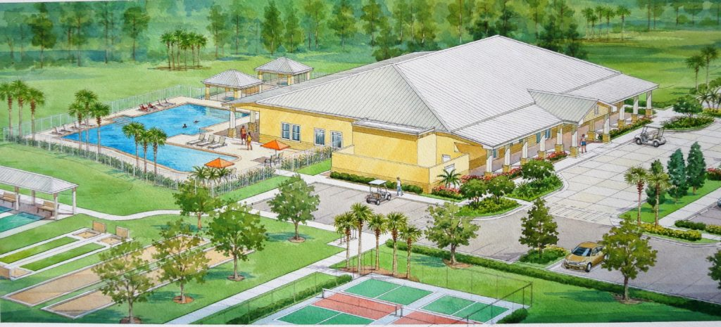 Plantation Oaks Clubhouse Rendering